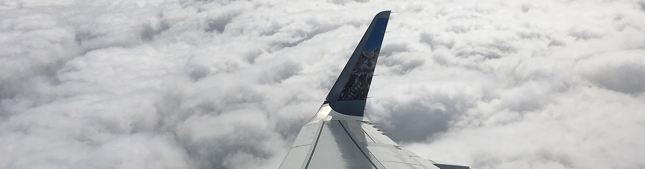 Up in the air, above the clouds